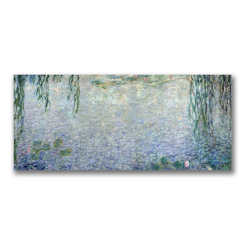 Claude Monet 'The Artist's Garden at Giverny' 26x26 Canvas Wall Art