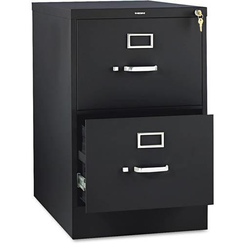 HON 2 Drawers Vertical Lockable Filing Cabinet, Black