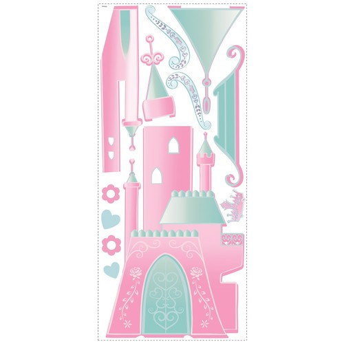 Roommates Rmk1785Gm Disney Princess Castle Peel And Stick Giant Wall Decal With Personalization