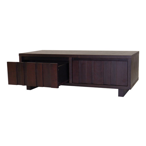 DonnieAnn Coffee, Console, Sofa & End Tables Conrad 2-drawer Coffee Table in Dark Birch