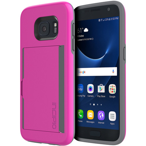 STOWAWAY Case for Galaxy S7 (Pink)