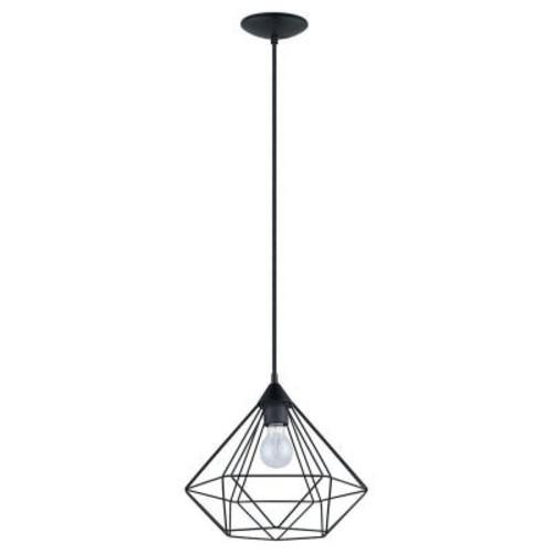 Eglo Tarbes 1-Light Matte Black Pendant