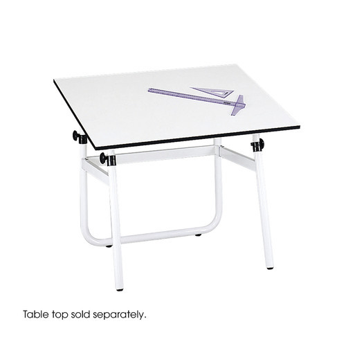 Safco Products 3961 Horizon Drawing Table Base for use with 3951 Table Top, sold separately, White [29-12