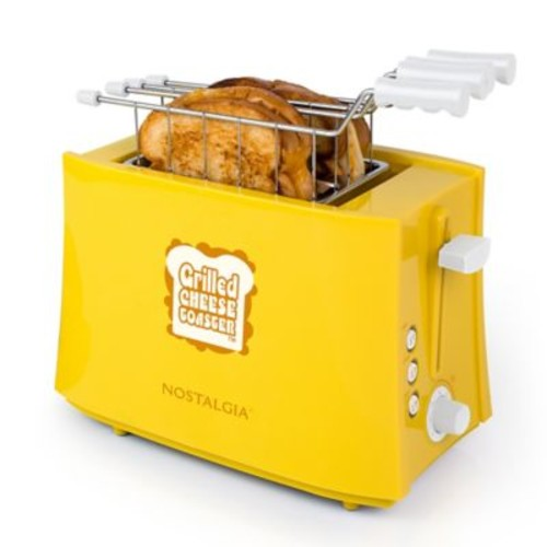 Nostalgia Electrics Grilled Cheese Sandwich Toaster in Yellow