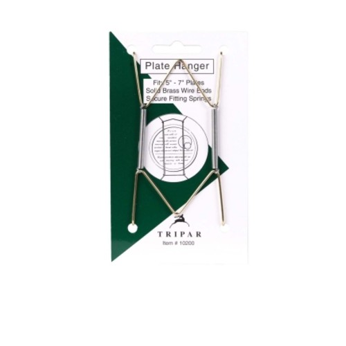 Tripar 7 in. to 10 in. Brass Bent Curves Plate Hanger 1 pk(12 Pack)(10202)