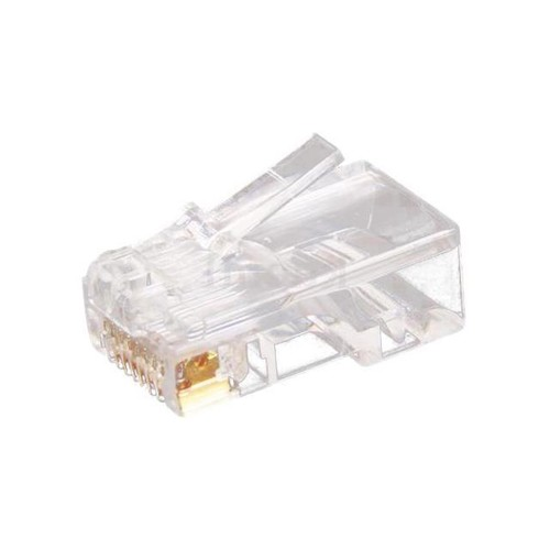 THZY 10pc Clear RJ45 CAT5 8P8C Modular Jack Network Connector Adapter Card