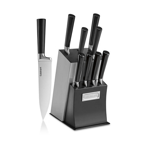 Cuisinart Vetrano Collection 11-Piece Stainless Steel & Black Cutlery Block Set