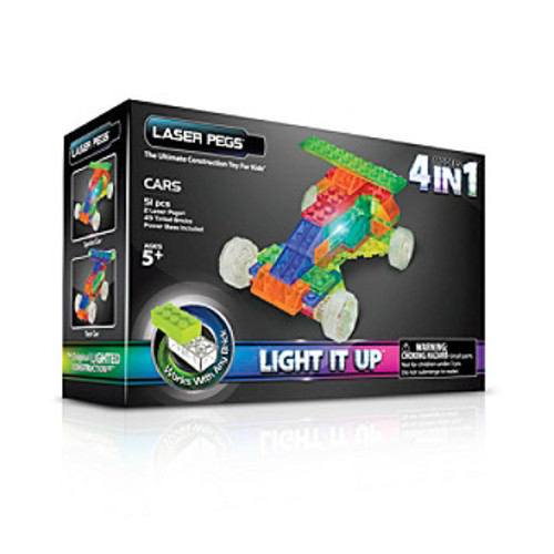 Laser Pegs Lighted Construction Toy MPS 4-in-1 Cars