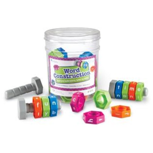 Learning Resources Word Construction Nuts and Bolts Kids Activity Set