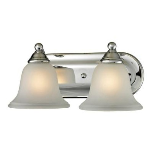 Titan Lighting Shelburne 2-Light Chrome Wall-Mount Bath Bar Light