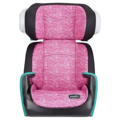 Evenflo Spectrum Booster Car Seat Fuchsia Shock