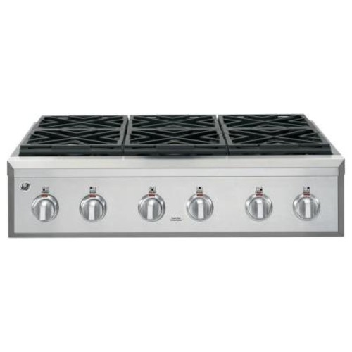 GE Cafe 36 in. Gas Cooktop in Stainless Steel with 6 Sealed Burners