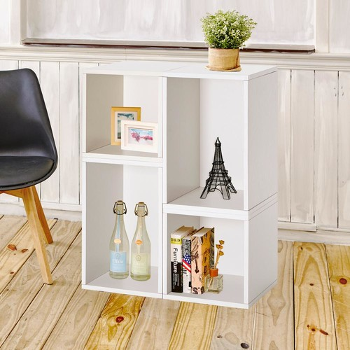 Way Basics Blox System Verona Eco zBoard Tool Free Assembly White Stackable Modular Open Bookcase