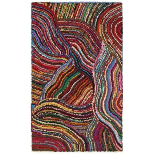 LR Resources Layla Multi 5 ft. x 7 ft. 9 in. Chindi Indoor Area Rug