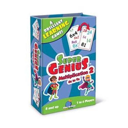 Blue Orange Games Super Genius - Multiplication 2 Card Game