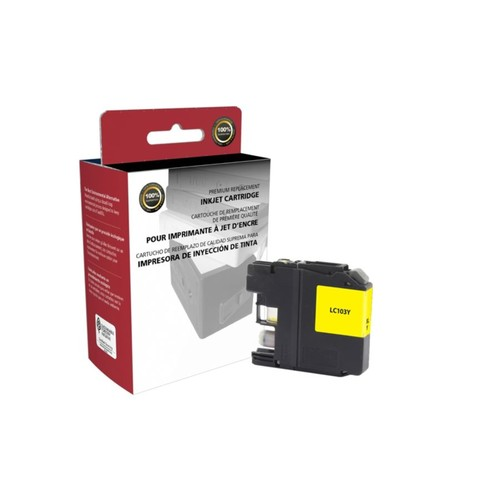 Clover Technologies Group High-Yield Remanufactured Ink Cartridge, Yellow, 118069 (Brother LC103Y)