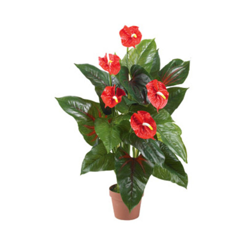 Nearly Natural 3' Anthurium Plant