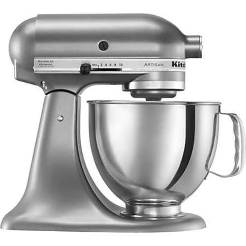 KitchenAid Artisan 10-Speed 5 Quart Tilt-Head Electric Stand Mixer - Contour Silver