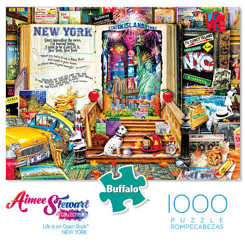 Buffalo Games Aimee Stewart Collection Jigsaw Puzzle 1000-Piece - Life is an Open Book-New York