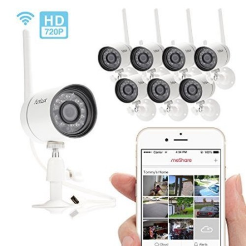 Funlux?? NEW Outdoor 720P HD Smart Wireless Security Camera System -- Remote Access in Seconds