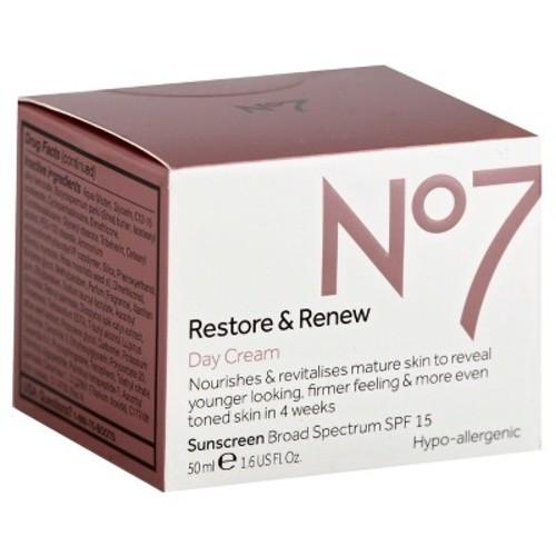 No7 Restore & Renew Day Cream SPF 15 - 1.69 Fl Oz