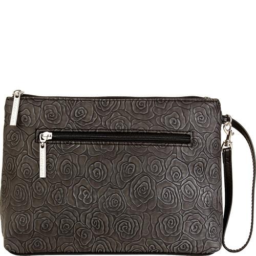 Kalencom Clutch Diaper Bag- Rosebuds Black