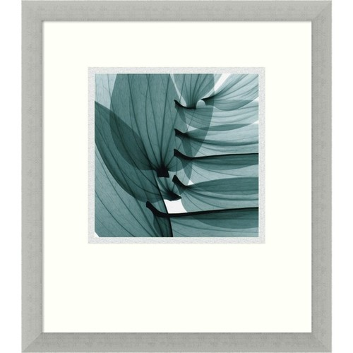 Framed Art Print 'Lily Leaves' by Steven N. Meyers 15 x 17-inch