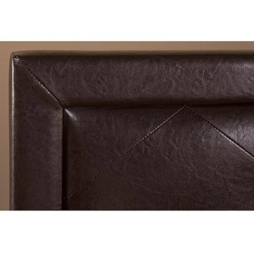 Becker Faux Leather Full Bed, Brown