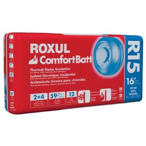 Roxul ComfortBatt 3-1/2 in. x 15-1/4 in. x 47 in. R-15 Fire Resistant Stone Wool Insulation (12-Bags)