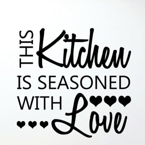 Belvedere Designs LLC Quotes Seasoned w/ Love Honey Wall Decal