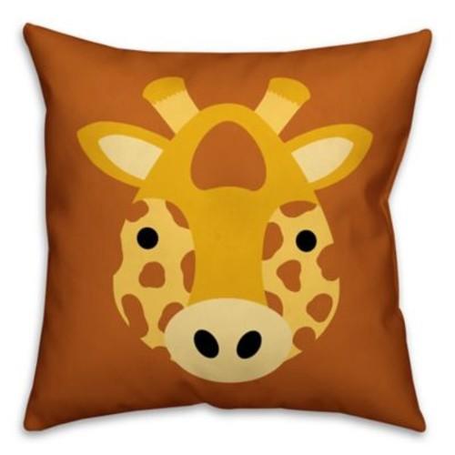 Designs Direct Framed Giraffe Face Friend Square Throw Pillow