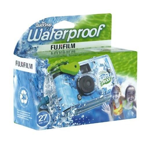 Fujifilm Quick Snap Waterproof 27 exp. 35mm Camera 800 film,Blue/Green/white,1 Pack [Standard Packaging, 1 Pack]