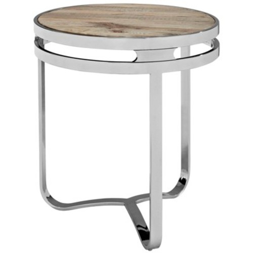 Provision Wood Top Side Table Brown - Modway