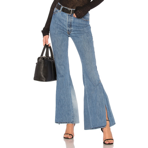 RE/DONE LEVI's High Waisted Slit Jean in Indigo