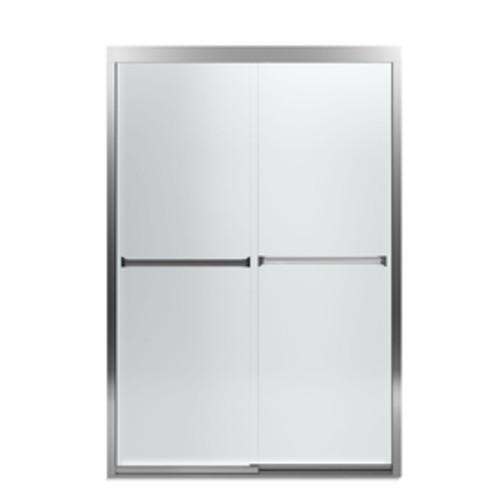 Sterling Meritor 42.625-in to 47.625-in W Frameless Silver Sliding Shower Door