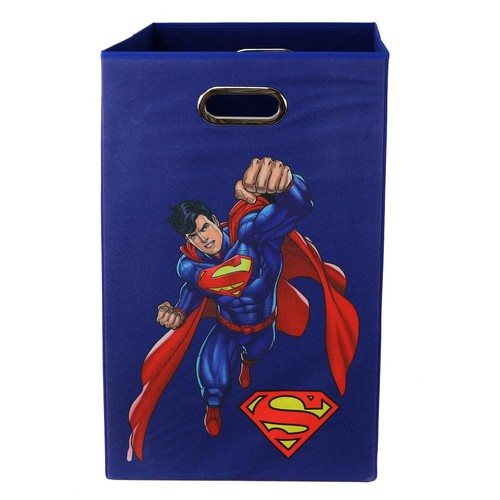 Modern Littles Superman Blue Folding Laundry Basket