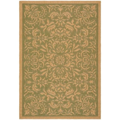 Safavieh Courtyard Green/Natural 5 ft. x 8 ft. Indoor/Outdoor Area Rug