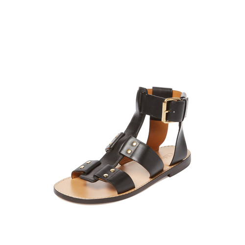 Studded Leather Sandal by Chloe