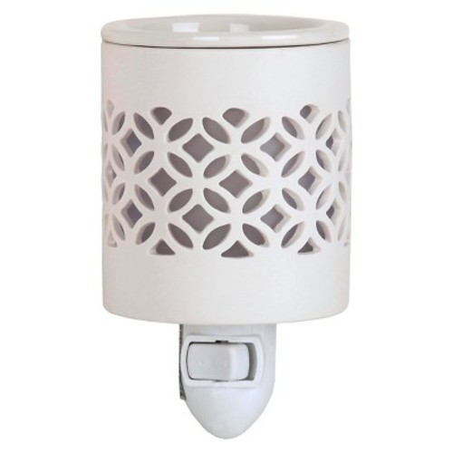 White Lattice Plug In Warmer