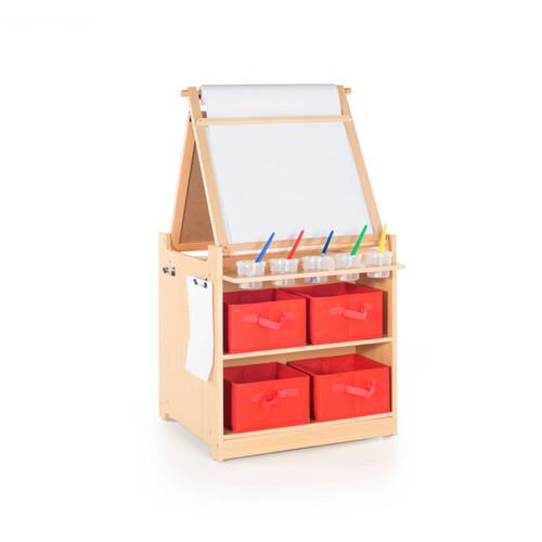 Guidecraft Art Cart Desk to Easel Set