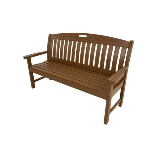 Hanover Avalon 60 in. Teak All-Weather Patio Porch Bench