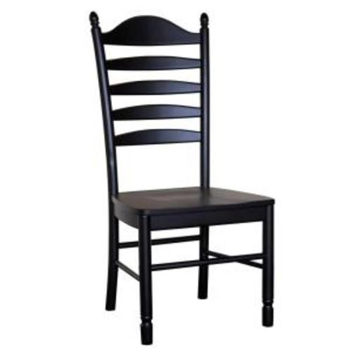 Carolina Cottage Whitman Antique Black Wood Dining Chair