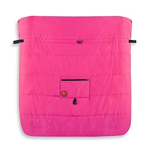 kushies Blue Banana Double Stroller Blanket in Pink