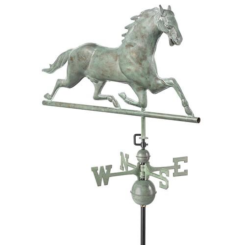 Good Directions Horse Weathervane, Blue Verde Copper [Blue Verde Copper]