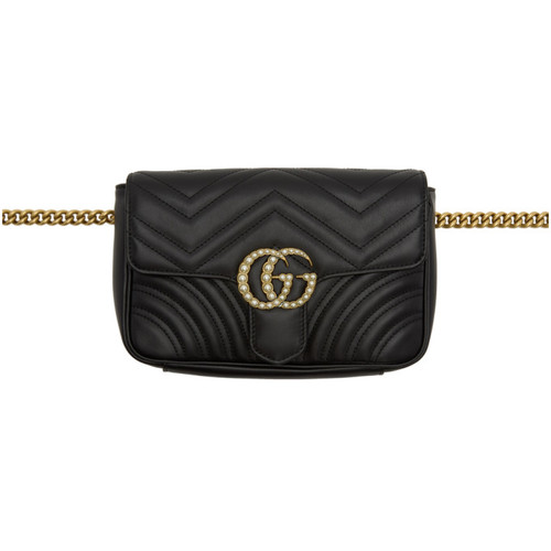 GUCCI Black Gg Marmont 2.0 Belt Bag