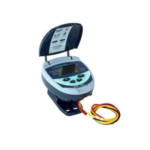 Galcon 61012 Battery Operated Waterproof Controller with 1.5 in. Inline Valve and DC Latching Solenoid