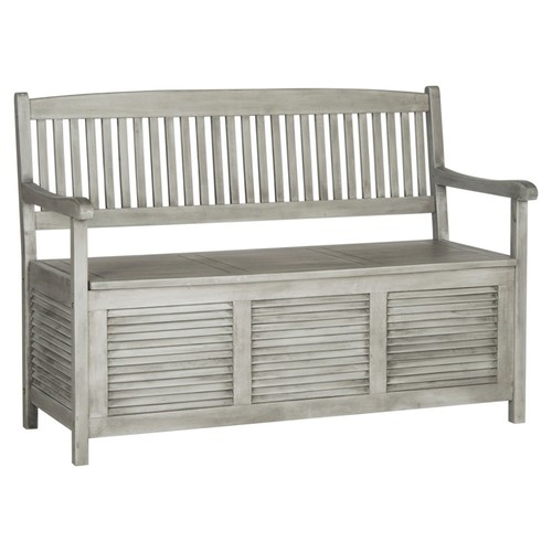 Outdoor Lydia Storage Bench, Gray