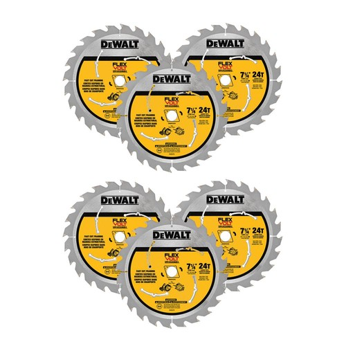 DEWALT Flexvolt 7-1/4 in. 24 Tooth Circular Saw Blade (6-Pack)