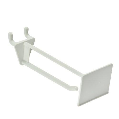 Azar 800014-WHT 4-Inch Glass-Filled Nylon Pegboard Scan Hook, White, 50-Pack