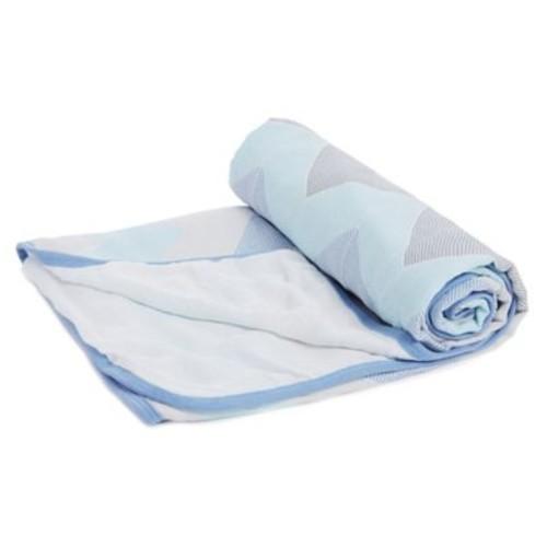aden by aden + anais Silky Soft Stroller Blanket in Blue